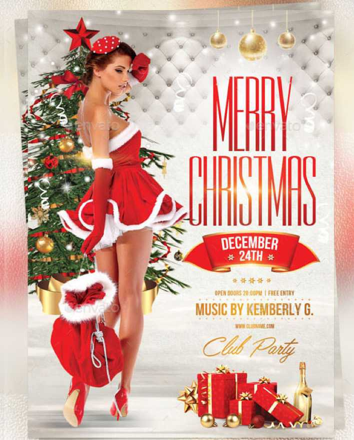 Sexy Christmas Flyer Template Photoshop PSD Page 1