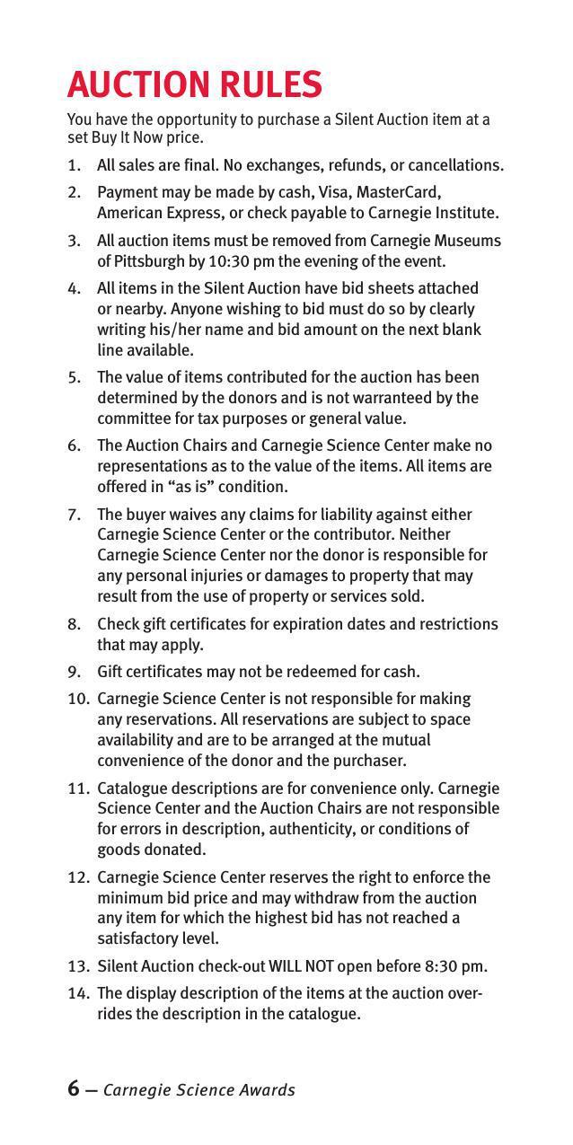 silent auction program template