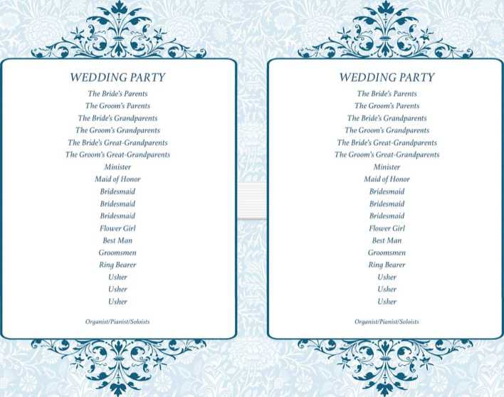 Simple Ceremony Wedding Program Fans Doc Download Page 1