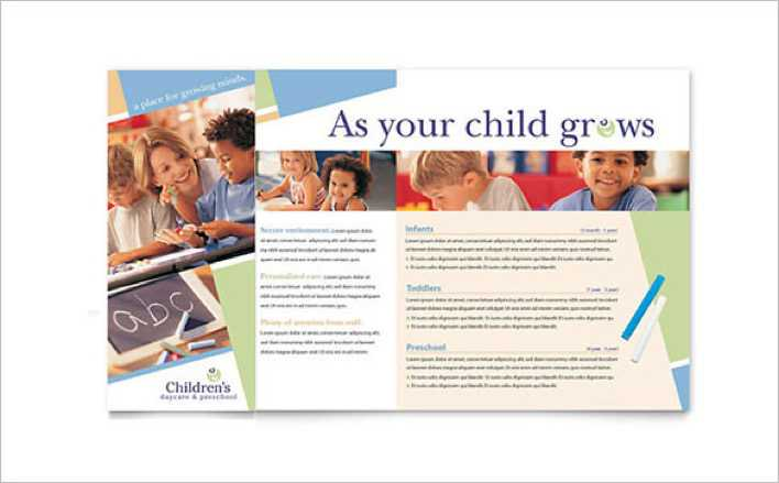 Simple Child Care Brochure Template Page 1