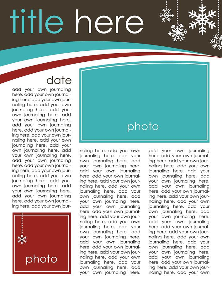 Simple Christmas Email Newsletter Template Page 1