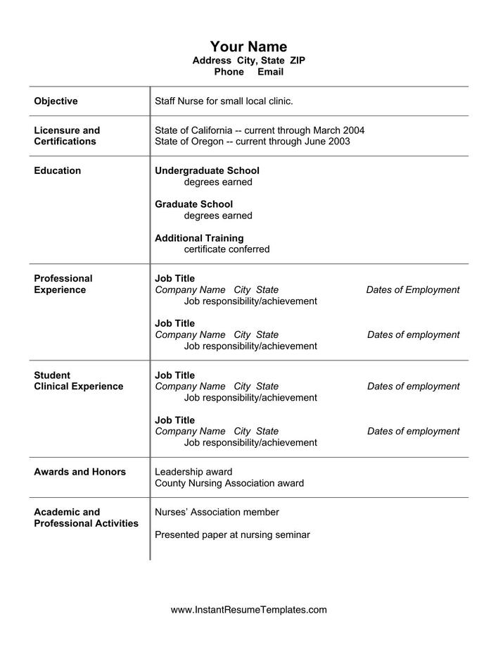 download simple microsoft word nursing resume cv template