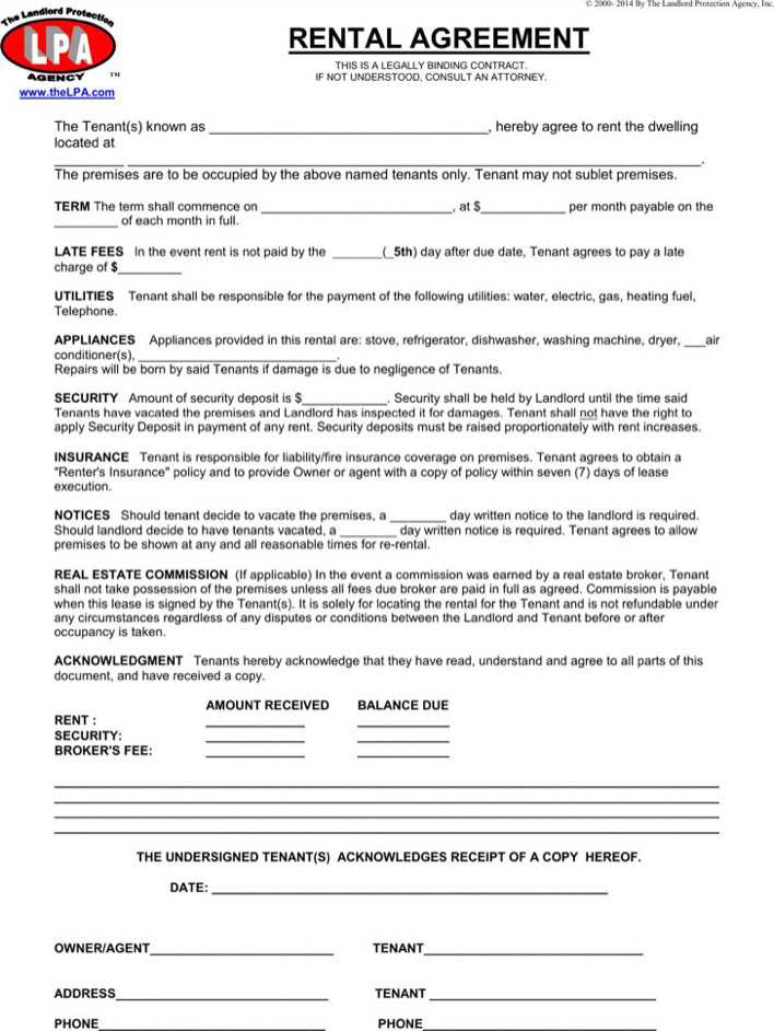 Download Simple One Page Commercial Rental Agreement For
