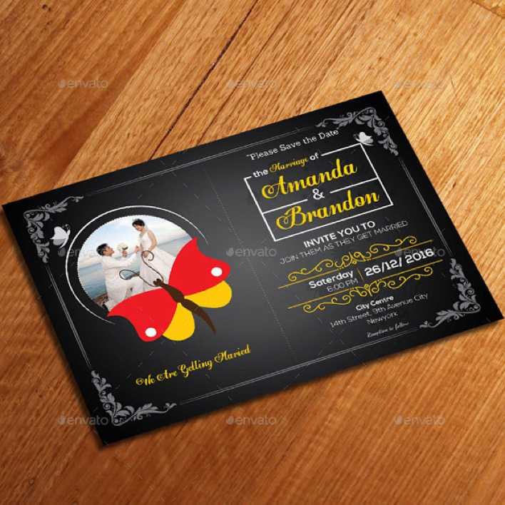 Simple Wedding Invitation Template For Download Page 1