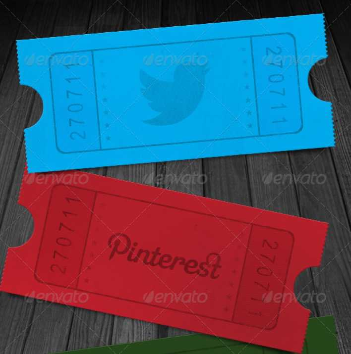 Social Media Ticket Stub Template Page 1