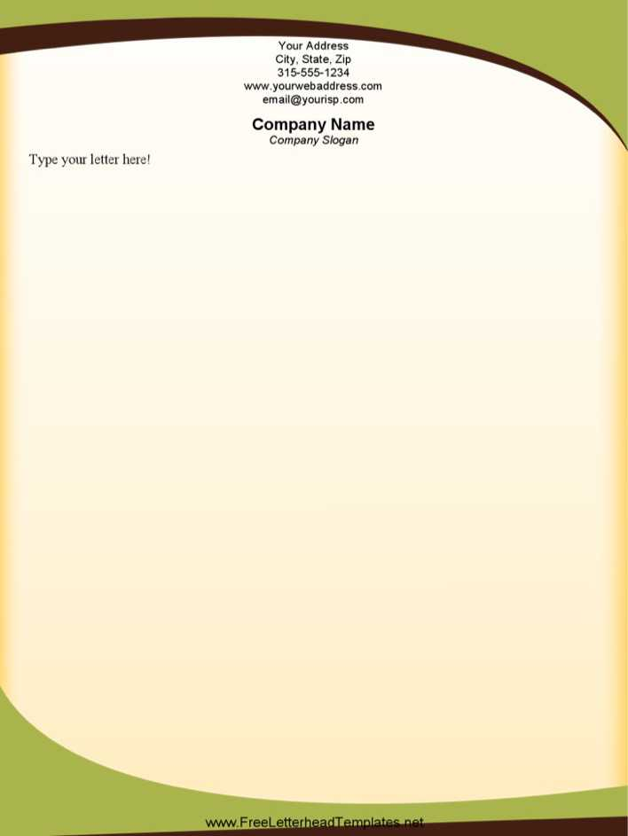 download sophisticated green letterhead template word doc