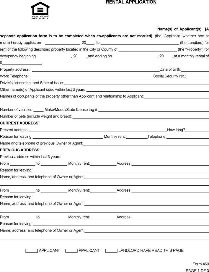 south-carolina-rental-application-form-1  Page Rental Application Form on california page 2, blank credit, free printable,