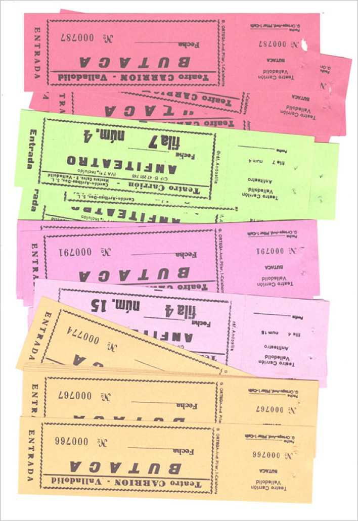 Spanish Vintage Theater Tickets Printable Page 1