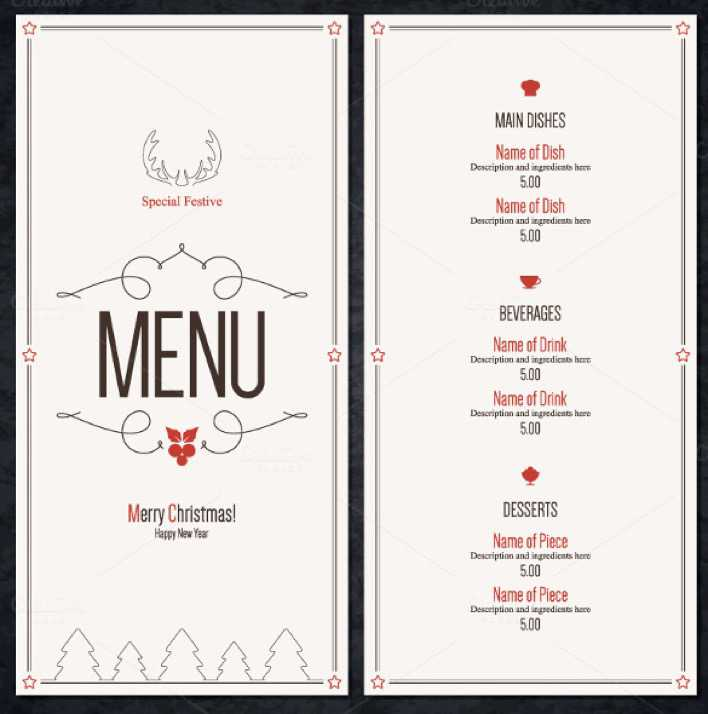 Special Christmas Festive Menu Template Download Page 1
