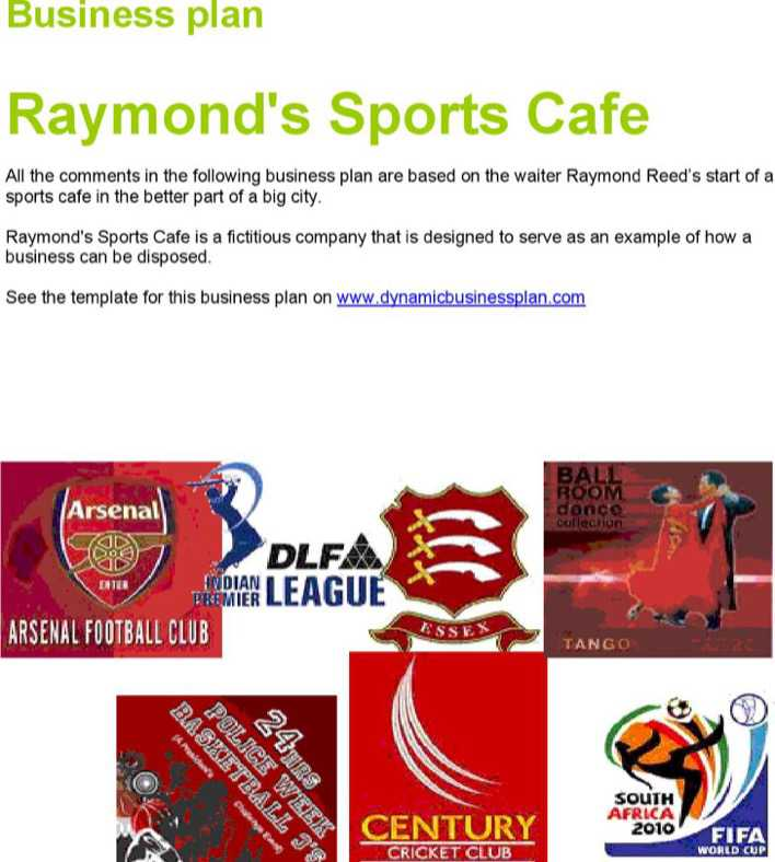 Download Sports Bar Business Plan Template For Free Tidytemplates
