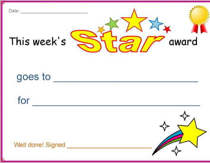 download star award certificate for free tidytemplates
