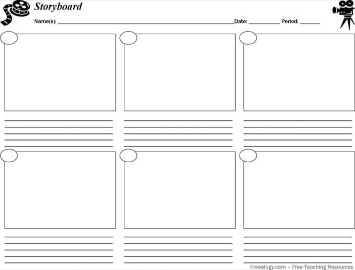 Storyboard Template Pdf | Download Storyboard Template Pdf For Free Tidytemplates