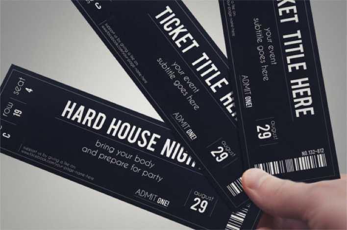 STYLISH FABRIC Event Ticket Template Page 1