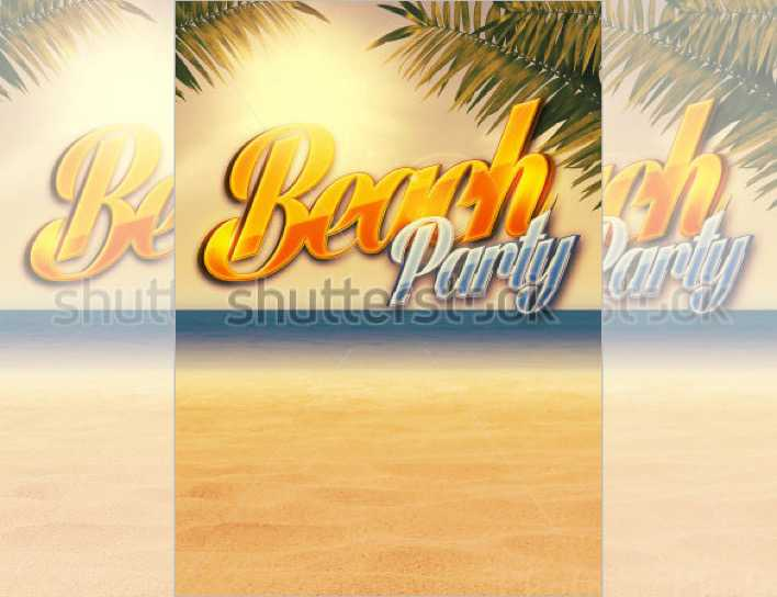 Summer Holiday Party Flyer Background Page 1