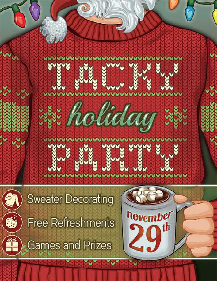 Tacky Holiday Party Flyer Page 1