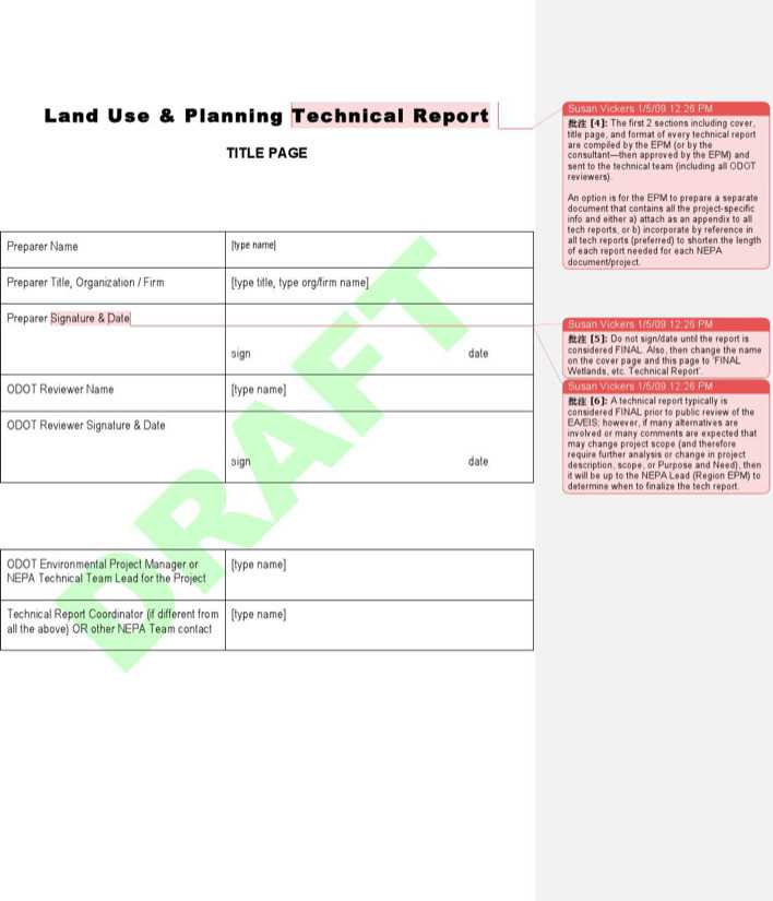 download technical report outline template word format for free
