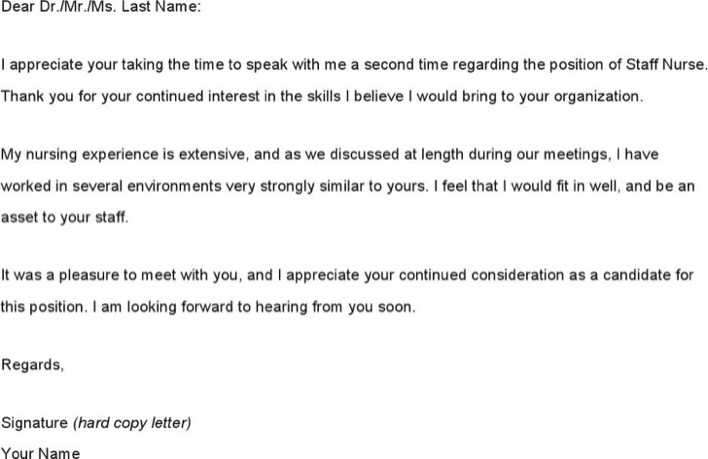 Thank You Email After Nursing Interview Page 1