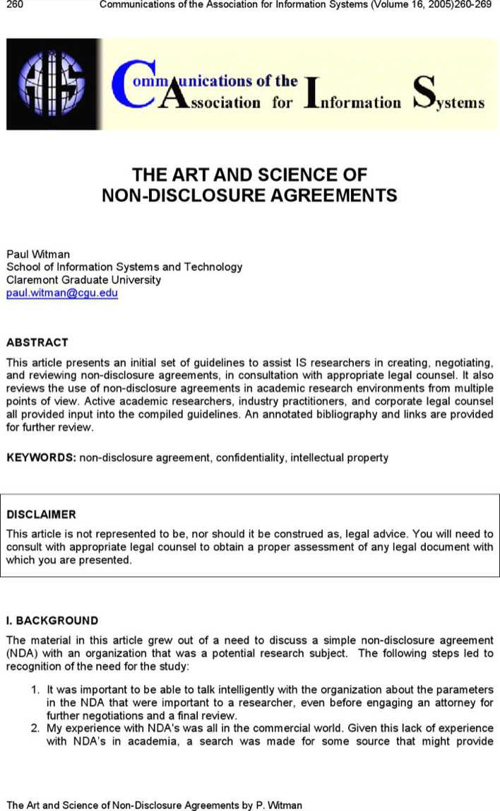 Download The Art And Science Of Non Disclosure Agreements