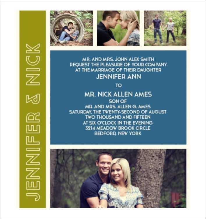 The Photo Romance Modern Wedding Invitation Page 1