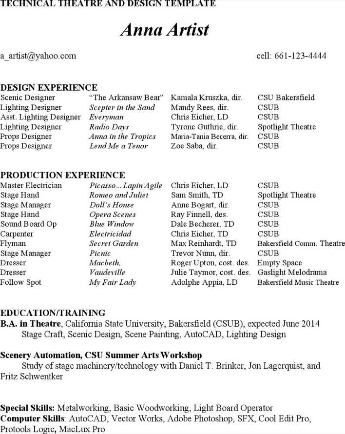 Download Theatre Director Resume Template For Free Page 3