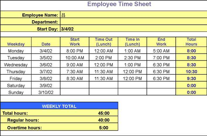 download timesheet calculator spreadsheet for free page 2