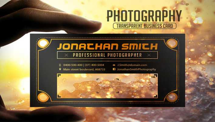Transparent Business Card Page 1
