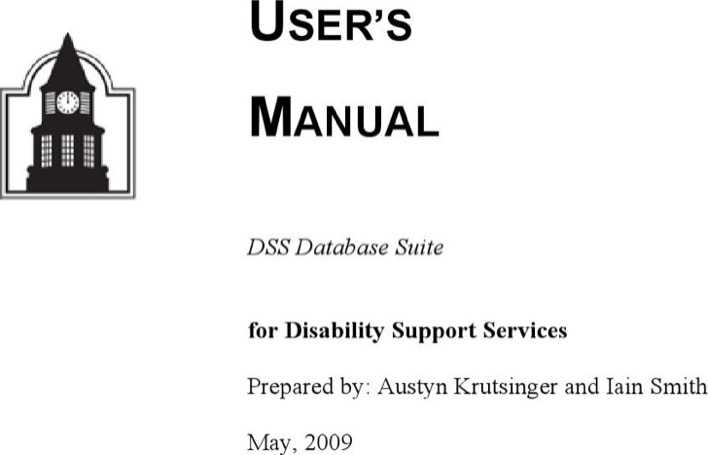 Download user manual template word for free page 20 for Database user manual template