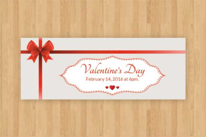 Valentine Event Ticket Template PSD Format Download Page 1