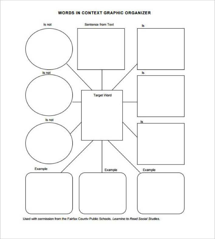 Download vocabulary graphic organizer pdf format download for Vocabulary graphic organizer templates