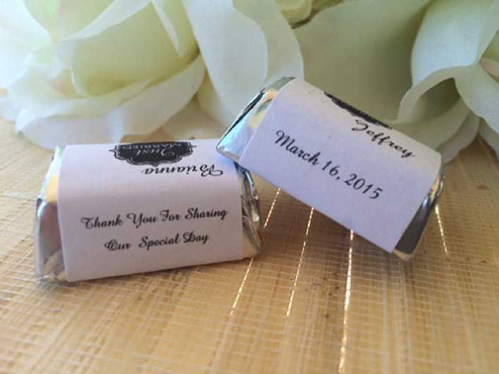 Wedding Candy Wrappers Template Download Page 1