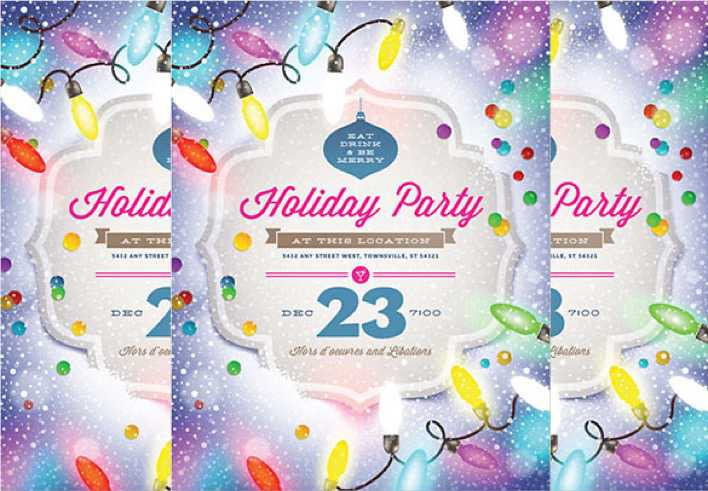 Download Word Format Holiday Party Flyer Template For Free