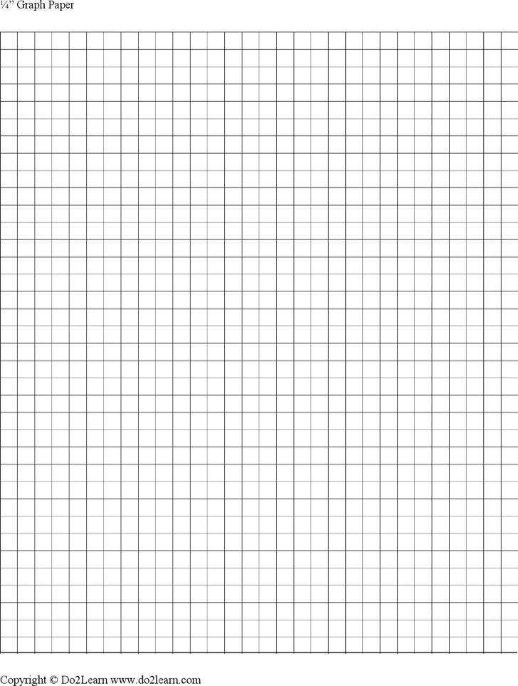 1\4 Inch Graph Paper Template