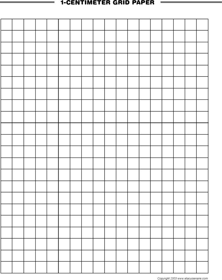 1-Centimeter Grid Paper