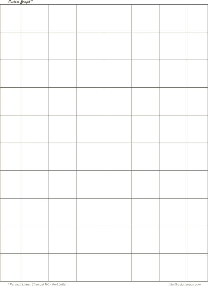 1 Inch Square Graph Paper
