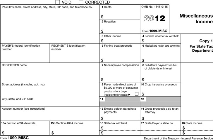 1099-MISC Form 2012
