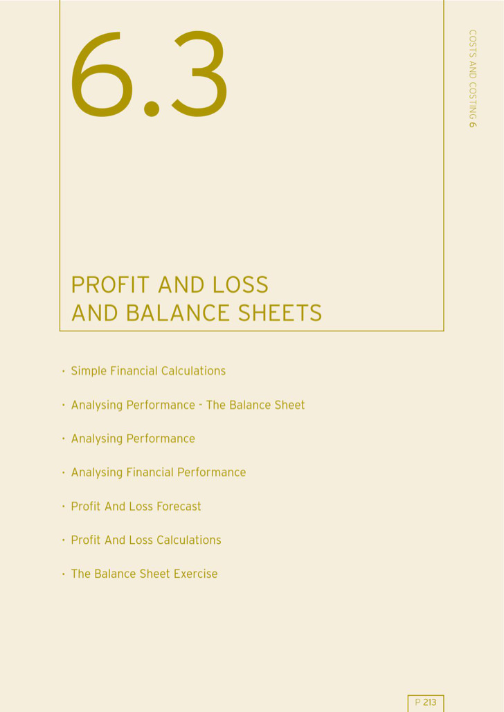 12Month Balance Sheet Financial Projection