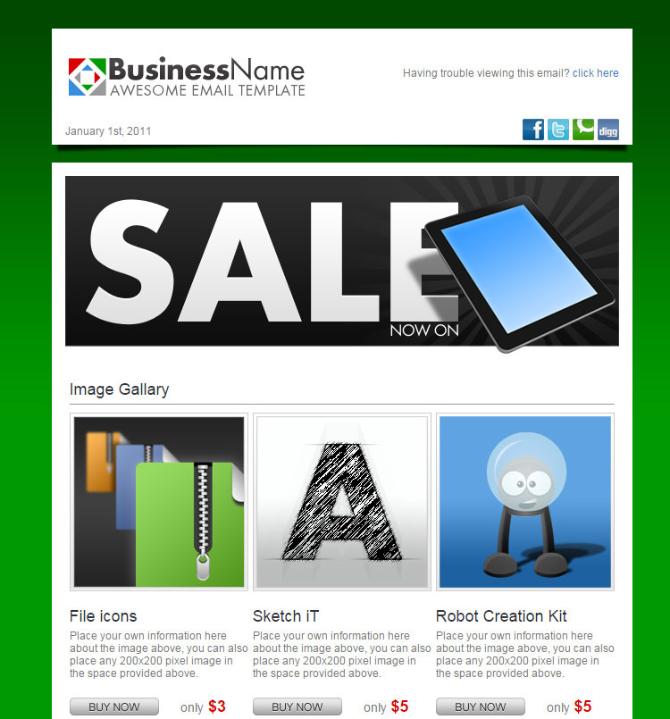 19 simple html email templates free download 16 html email templates 12 maxwellsz