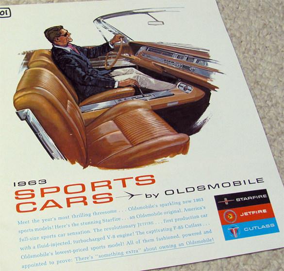 1963 Old Mobile Sports Car Brochure