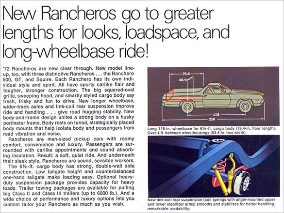 1972 Ford Ranchero Brochure