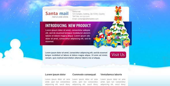 2 Christmas Snow Email Newsletter Photoshop Psd