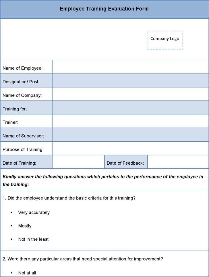 2 Employee Traning Feedback Form