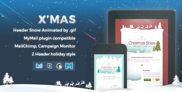 2 Xmas Christmas Responsive Email Template In Html