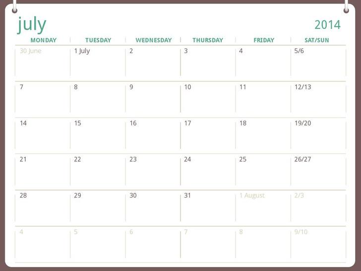 2014-2015 Academic Calendar (Jul-jun)