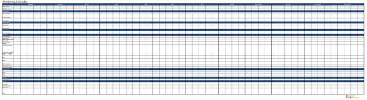 2014 Marketing Calendar Sample