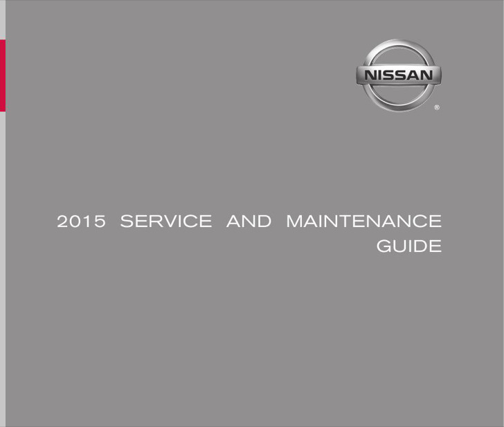 2015 Nissan Service Maintenance Guide Pdf Download