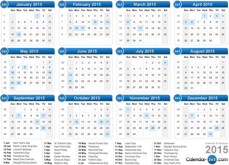 3  2015 yearly calendar free download