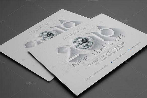2016 New Years Flyer Template PNG Format Download