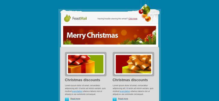3 Download Feastmail Christmas Email Template Html Files