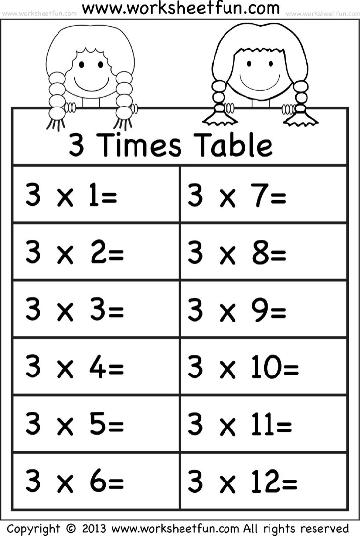 Download Times Tables Worksheets For Free Tidytemplates