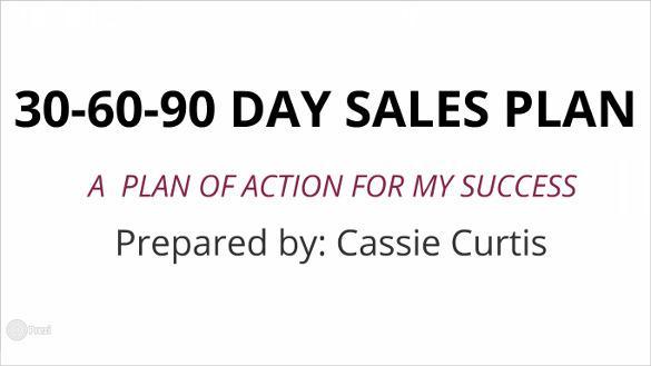 30-60-90 Day Sales Plan Template Prezi Format Download
